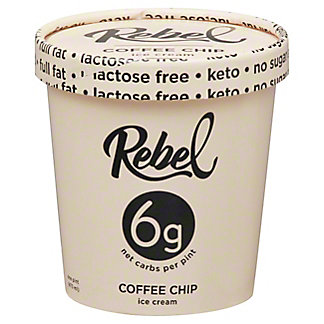 Rebel Coffee Chip Ice Cream, 1 pt
