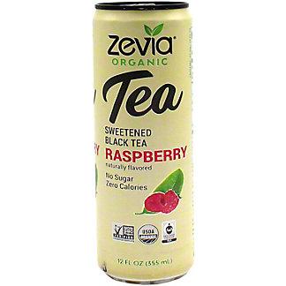 Zevia Orgnaic Sweetened Black Tea Raspberry, 12 oz