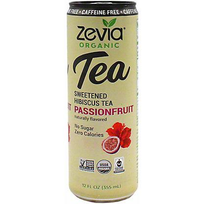 Zevia Organic Hibiscus Passion Fruit Tea, 12 oz