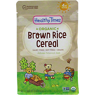 Healthy Times Organic Brown Rice Cereal, 5 OZ