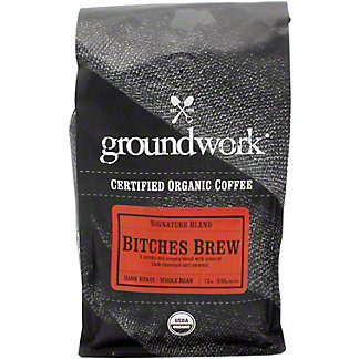 Groundwork Coffee Whole Beans Brew Organic, 12 oz