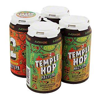 Lakewood Temple Hop Hazy IPA Seasonal Beer 12 oz Cans, 4 pk