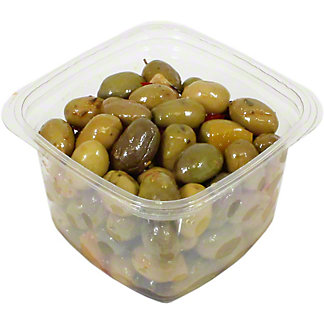 Barnier Pitted Green Olives Marinated With Lemon & Curry, By Lb