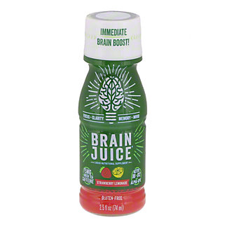 BrainJuice Strawberry Lemonade Brain Boost Shot, 2.5 oz