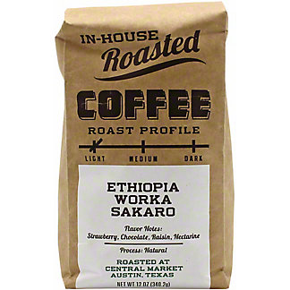 Central Market In-House Roasted Ethioipa Worka Sakaro , 12 oz