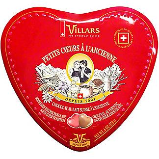Villars Swiss Milk Chocolate Hearts In Red Tin, 6 oz