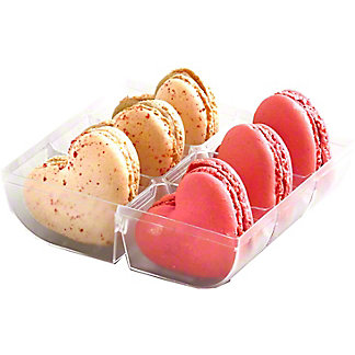 Central Market Heart Shaped Macarons, 6 ct