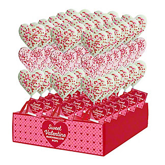 Melville Valentine Marshmallow Pop with Confetti, 1.5 oz