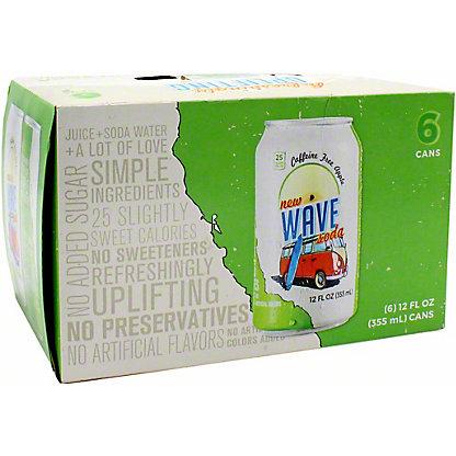 Wave Caffeine Free Apple Soda 12 oz Cans, 6 pk