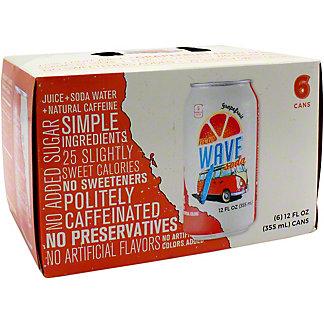 Wave Grapefruit Soda 12 oz Cans, 6 pk
