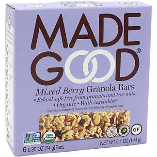 MadeGood Granola Bars Mixed Berry 6PK, 6.00 ea