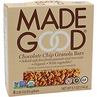 Made Good Granola Bars Chocolate Chip 6PK, 6 ct