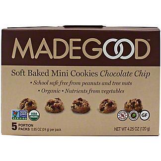 MadeGood Soft Baked Mini Cookies Chocolate Chip, 5 ct