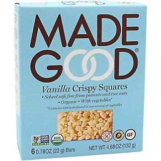 Made Good Vanilla Crispy Squares, 6 ct