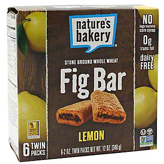 Natures Bakery Fig Whole Wheat Lemon, 6 ct