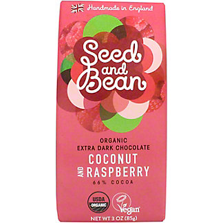 Seed And Bean Coconut & Raspberry-66% Cocoa, 3 OZ