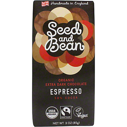 Seed And Bean Espresso - 58% Cocoa, 3 OZ