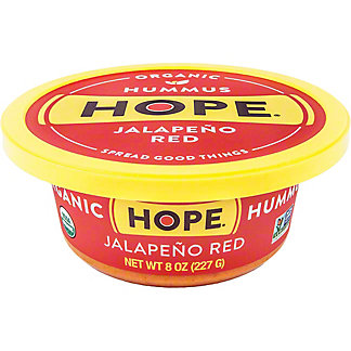 Hope Hummus Jalapeno Red Organic Hummus, 8 oz