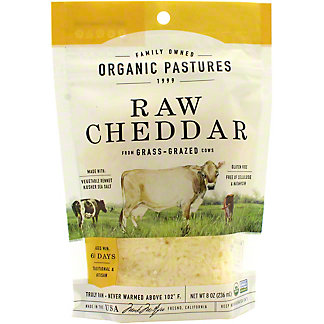 Organic Pastures Cheese Shred Pasture Grazed, 8 OZ