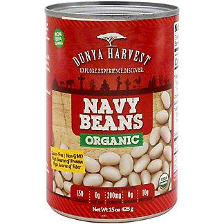 Dunya Harvest Navy Beans Organic, 15 oz