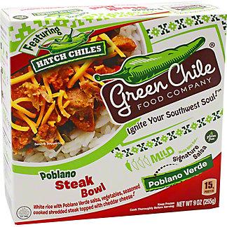Green Chile Food Company Green Chile Burrito Bowl Steak Poblano Cheese, 9 oz