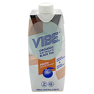 Vibe Black Tea Peach, 16.9 oz
