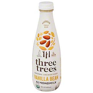 Three Trees Almond Milk Unsweetened Vanilla, 28 OZ