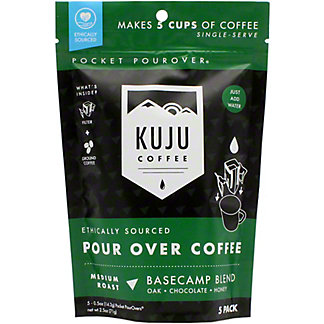 Kuju Coffee Basecamp Medium Pocket Pour Over, 5 ct