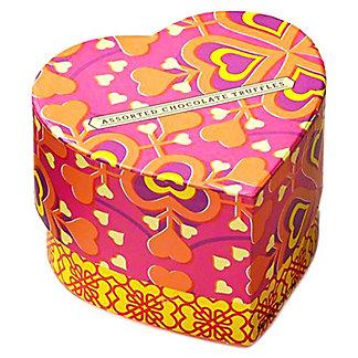 Seattle Chocolates Assorted Chocolate Truffles Sunshine Heart Cube, 6 oz