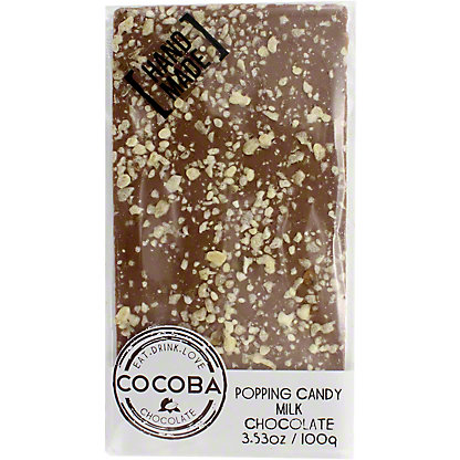 Cocoba Popping Candy Milk Chocolate, 100 g
