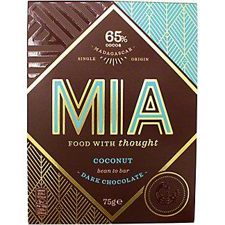 Mia Coconut 65% Dark Chocolate, 75 G