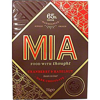 Mia Cranberry & Hazelnut 65% Dark, 75 G