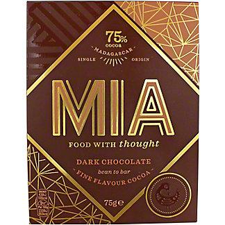 Mia 75% Dark Chocolate Bar, 75 G