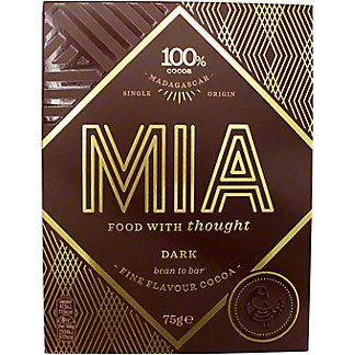 Mia 100% Cocoa Dark Chocolate, 75 G