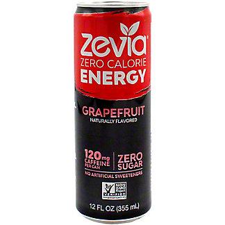 Zevia Energy Grapefruit, 12 oz