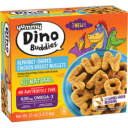 Yummy Dino Buddies Alphabet Chicken Nuggets , 21 oz