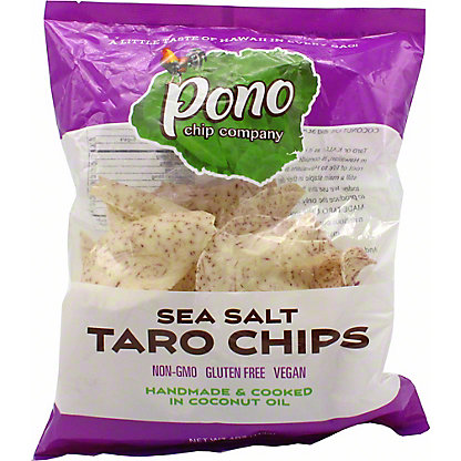 Pono Chip Company Sea Salt Taro Chips, 4 OZ