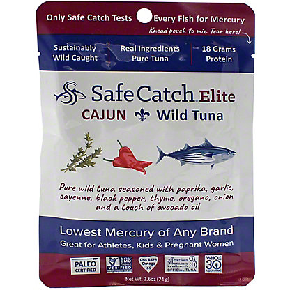 Safe Catch Tuna Wild Elite Pouch - Cajun, 2.6 oz