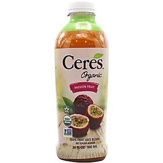 Ceres Juice Passion Fruit Organic, 30 oz