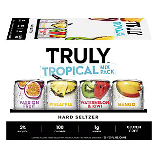 Truly Hard Seltzer Tropical Mix Variety 12 oz, 12 pk