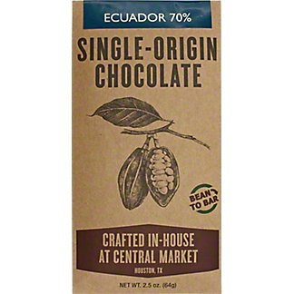 Central Market Bean To Bar Ecuador, 2 OZ