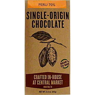 Central Market Bean To Bar Peru, 2 OZ