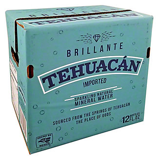 Tehuacan Sparkling Mineral Water Case 12 oz Bottles, 12 pk