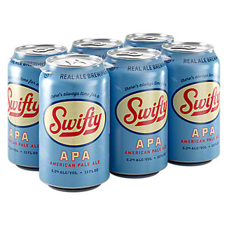 Real Ale Swifty American Pale Ale Beer 12 oz Cans, 6 pk