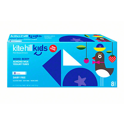 Kite Hill Yogurt Tubes Wild Berry, 8 ct