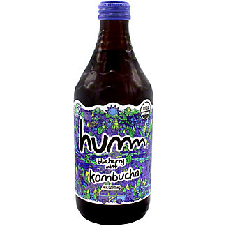 Humm Kombucha Blueberry Mint, 14 oz