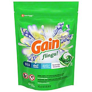 Gain Flings! Lavender HE Laundry Detergent Pacs, 35 ct