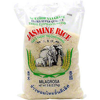 Three Elephants Thai Jasmine Rice, 5 lb