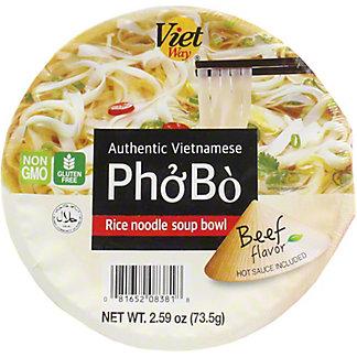 Viet Way Viet Way Rice Noodle Soup Bowl Beef, 2.59 OZ
