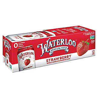 Waterloo Strawberry Sparkling Water , Ea